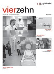 First Year USB - Universitätsspital Basel