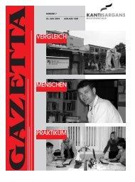 VERGLEICH MENSCHEN PRAKTIKUM - Kantonsschule Sargans