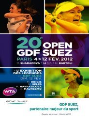 GDF SUEZ, partenaire majeur du sport