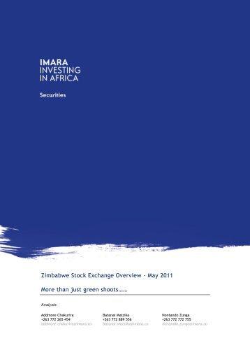 Zimbabwe Stock Exchange Overview - May 2011 More than ... - Imara