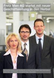 Fretz Men AG startet mit neuer Geschäftsleitung in den Herbst