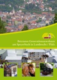 Betreutes Generationenwohnen am Speyerbach in ... - GrantBau