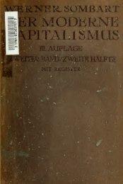 Der moderne Kapitalismus; historisch-systematische Darstellung ...