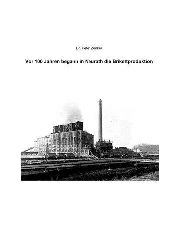 Vor 100 Jahren begann in Neurath die ... - Dr. Peter Zenker