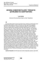 sporda homofobi ölçeği - Spor Bilimleri Dergisi