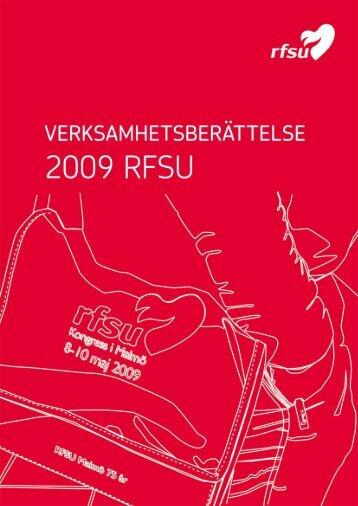 Verksamhetsberättelse 2009 - RFSU