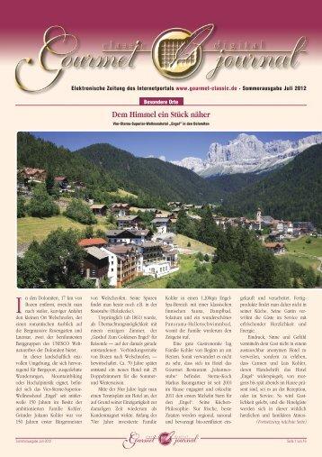 """Davidoff Saveurs Gstaad"" – Genusswoche: 6. bis ... - Gourmet-Classic"