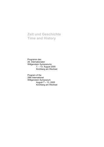 Program - Austrian Ludwig Wittgenstein Society