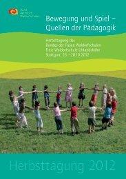 Herbsttagung 2012 - Bund der Freien Waldorfschulen