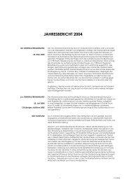 jahresbericht 2004 - Zürcher Hoteliers, Regionalverband Zürich und ...