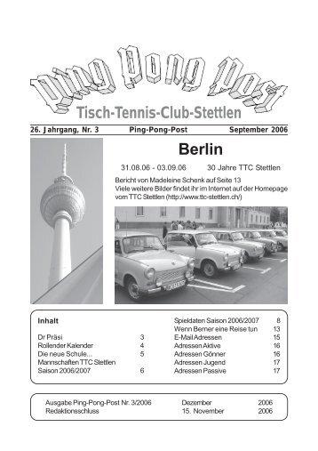 Tisch-Tennis-Club-Stettlen Berlin - TTC Stettlen
