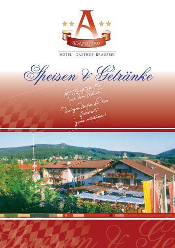Speisekarte 4.indd - und Sporthotel Adam-Bräu