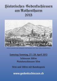 Schiessplan 2013 - Pistolensektion UOV Schwyz Morgarten ...