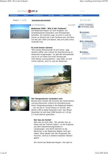 Bodensee 2050 - Wie in der Toskana?