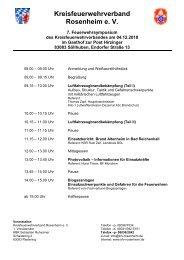 Programm zum Ausdrucken (pdf) - Kreisfeuerwehrverband Rosenheim