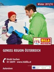 ITS BILLA - Autoreisen: Genuss Region Österreich ... - Letenky.sk