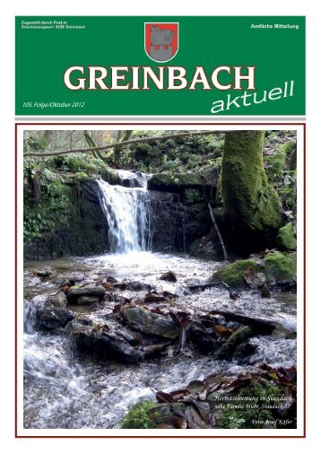 Herbststimmung in Staudach - Volksschule Greinbach