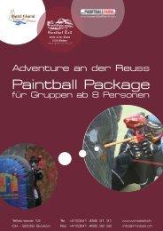 Paintball Package - Hotel Garni an der Reuss