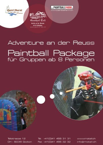 Paintball Package - Hotel Garni an der Reuss