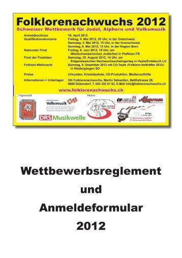 Folklorenachwuchs 2012 Wettbewerbsreglement und ...