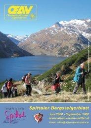 Im Maltatal, Blick zum Schwarzhorn Foto: H. Aman - Alpenverein ...
