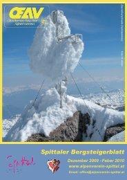 Spittaler Bergsteigerblatt - Alpenverein Spittal/Drau