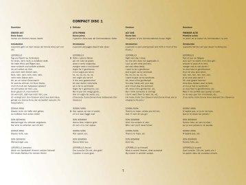 Don Giovanni libretto - EMI Classics - The Home Of Opera