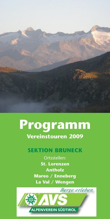 Ortsstellen - AVS Sektion Bruneck