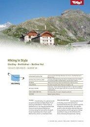 Hiking in Style Ginzling – Breitlahner – Berliner Hut - Tirol