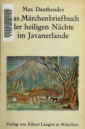 Das Märchenbriefbuch der heiligen Nächte im Javanerlande
