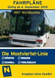 Die Mostviertel-Linie - Verkehrsverbünde Niederösterreich ...