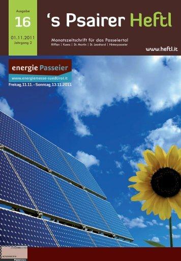 Ausgabe Nov. 2011 - Psairer Heftl