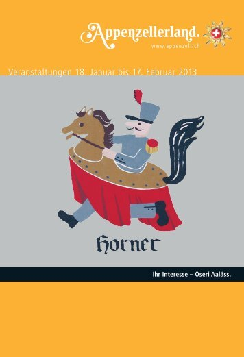Veranstaltungen 18. Januar bis 17. Februar 2013 - Appenzellerland ...
