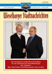 Der Gemeinderat verleiht Herrn Ernst Bauer für sein ... - Wieselburg