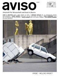 Aviso 3/2011 - Bayerisches Staatsministerium für Wissenschaft ...