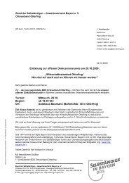 Einladung zur offenen Diskussionsrunde am 29.10.2008 - Bund der ...