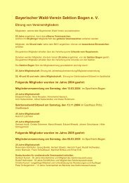Ehrung von Vereinsmitgliedern - Bayerischer Wald Verein