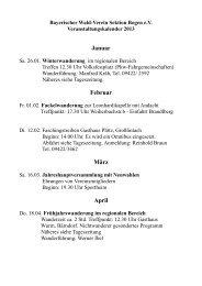 Veranstaltungen 2013 - Bayerischer Wald Verein