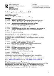 37. Beratungshinweis vom 10. November 2009 3 ...
