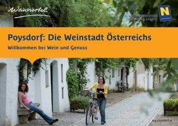 Poysdorf: Die Weinstadt Österreichs
