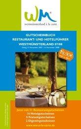 Gutscheinbuch RestauRant - Westfalen Magazin