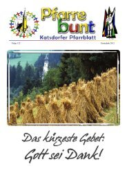 Folge 132 Erntedank 2012 - Pfarre Katsdorf