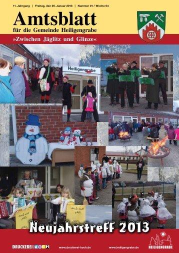 Januar 2013 - Gemeinde Heiligengrabe