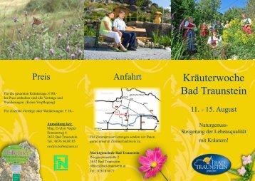 Kräuterwoche Bad Traunstein - Maurergrafik
