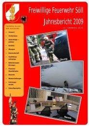 Freiwillige Feuerwehr Söll Jahresbericht 2009