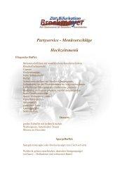 Menüvorschlag – Bayrisches Menü - Gasthaus Zur Bifurkation