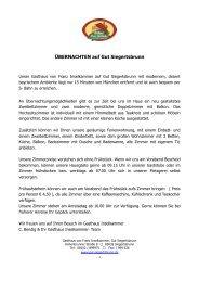 ÜBERNACHTEN auf Gut Siegertsbrunn - Gasthaus Inselkammer