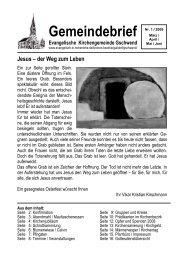 Gemeindebrief 2009-1 - Evangelischer Kirchenbezirk Gaildorf