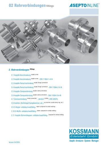 Rohr-verbindungen - bei Kossmann Edelstahl