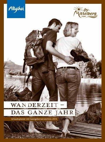 Urlaubsplaner mit Gastgeberverzeichnis 2013 - in Oy-Mittelberg